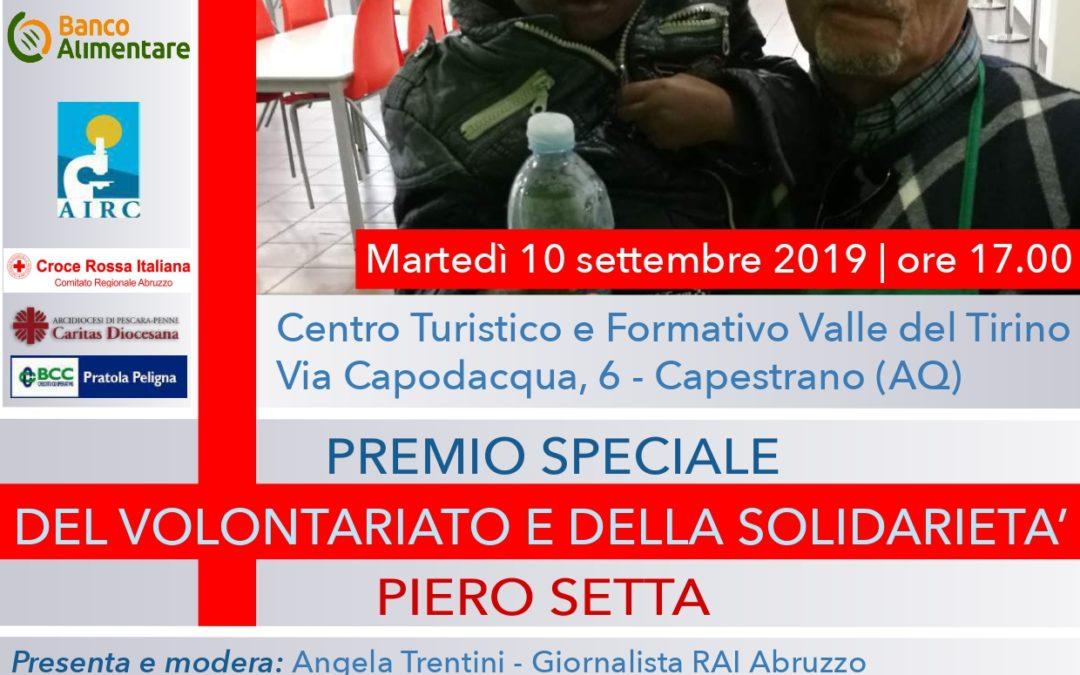 Avis Provinciale Pescara al Premio Setta per il volontariato