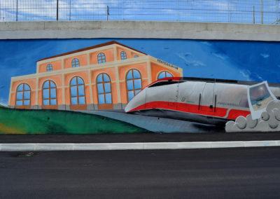 Montesilvano murales Ferrovia 1